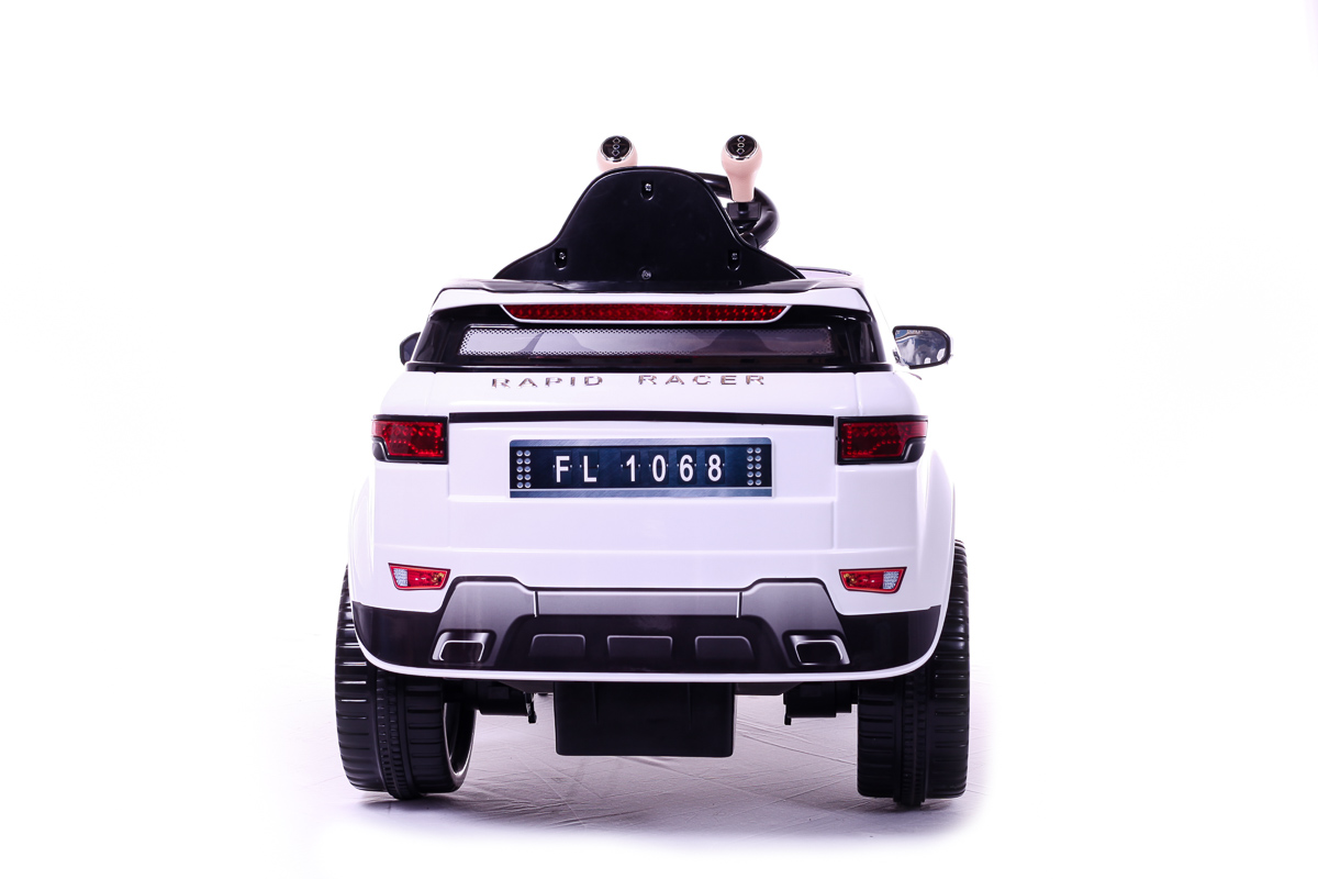 mini evoque blanche 6v voiture electrique pour enfants ebay. Black Bedroom Furniture Sets. Home Design Ideas