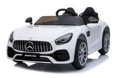 12V Mercedes AMG GT 2 Places sous licence Blanc