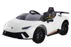12V Lamborghini Huracan sous licence Blanc