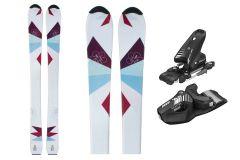 Skis filles Tigris Junior 100cm avec fixations Tyrolia