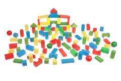 Kit de construction blocks en bois - 100 pièces