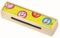 Harmonica en bois jaune pour enfant