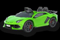 12V Lamborghini sous licence 2 sièges Vert