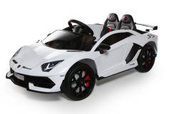 12V Lamborghini sous licence 2 sièges blanc