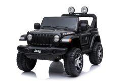 12V Jeep Rubicon 2 Places sous licence Noir