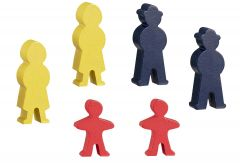 Set de figurines - accessoires train