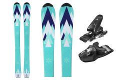 Skis unisexe Tigris Junior 100cm avec fixations Tyrolia