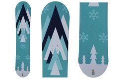 Snowboard unisexe Tigris Junior 125cm avec fixations