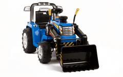 ARTICLE D'OCCASION - Tracteur Pelleteuse 12 Volts Bleu