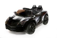 Roadster 12V Style Lambo Noire - Voiture Electrique Pour Enfants