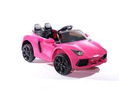 Roadster 12V Style Lambo Rose - Voiture Electrique Pour Enfants
