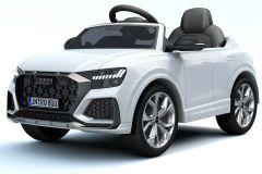 12V Audi Q8 RS Blanc sous licence – Voiture Electrique Pour Enfants
