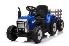 12V Tracteur avec remorque Bleu – Tracteur Electrique Pour Enfants
