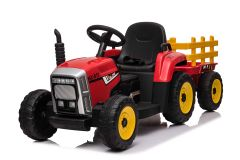 12V Tracteur avec remorque Rouge – Tracteur Electrique Pour Enfants